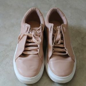 Nude /Blush Lace Up Sneaker Shoes
